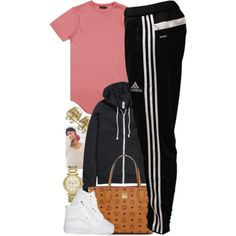 Untitled #1429 by power-beauty on Polyvore featuring H&M, adidas, Vans, MCM and Michael Kors