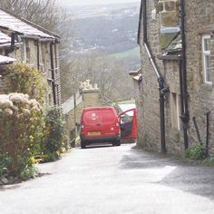The mailman has no issue with the width of the road it's just me . I love Yorkshire