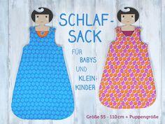 Einen Baby-Schlafsack mit Reißverschluss und Trägern zum Knöpfen selber nähen - mit Videoanleitung und Freebie für Neugeborene und Puppen