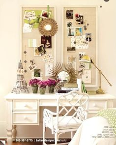 great desk and pin boards