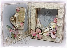 Cards made by Chantal: Vintage book card