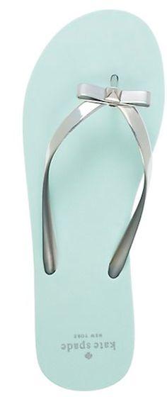 pretty kate spade bow tie flip flops #FlipFlops