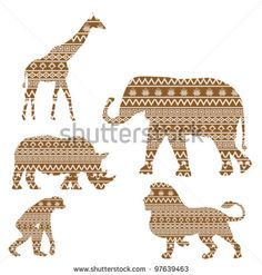 Animals with african textures