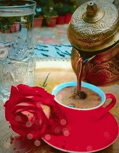 Good Day Coffee, Good Morning Coffee Images, Good Morning Cards, Good Morning Flowers, Good Morning Love, Good Morning Friends, Good Morning Greetings, Coffee Break, Gif Café
