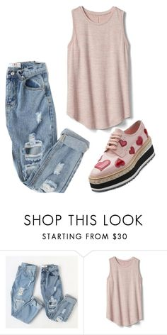 """""""Untitled #792"""" by vaniadenisse16 ❤ liked on Polyvore featuring Gap and Prada"""