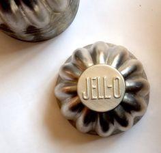 Set of 6 Vintage Aluminum JELLO Molds