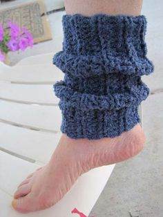 Free Crochet Ankle Warmer Pattern.