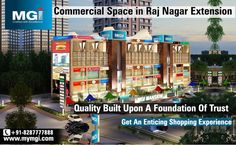 #MGIMansion, the #shopping #space in #RajNagarExtension, is going to #set a #new #benchmark in the #commercial #domain and will become the perfect #destination for the #shoppers and #business #people.