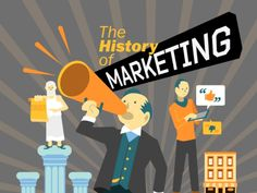 The history of marketing infographic by HubSpot All-in-one Marketing Software via Slideshare
