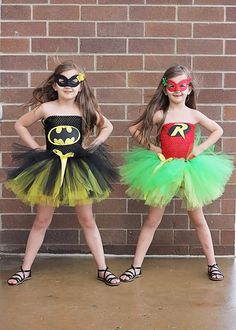 Batman & Robin Tutu Costumes by OhMyTutuCuteByDeanna on Etsy https://www.etsy.com/listing/233831193/batman-robin-tutu-costumes