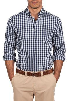 Country Road indigo gingham shirt.