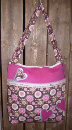 Skulderveske Perm, Diaper Bag, Sewing, Handmade, Bags, Fashion, Pink, Handbags, Moda