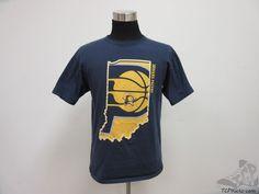 Mens Anvil Indiana Pacers Short Sleeve Crewneck t Shirt sz L Large NBA Eastern #Anvil #IndianaPacers