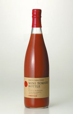 mini tomato bottle package design by Terashima Design Co.