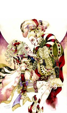 "Art from ""Final Fantasy VI"" by manga artist Sakizou."