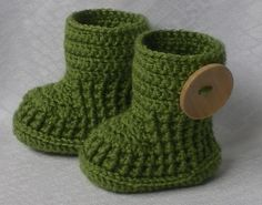 Cute booties - love the button!