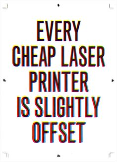 antonio bertossi, 2010 // statement laser printer