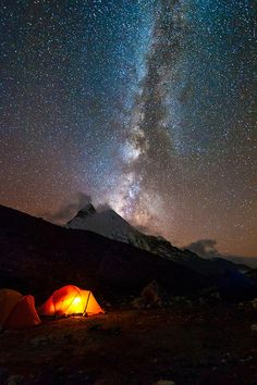 Milky Way From Island Peak Base Camp (by ykumsri)