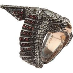 Diamond and sapphire parrot ring by Sevan Bicakci