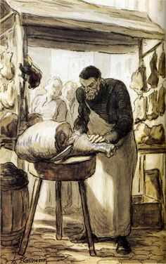 The Butcher, Honoré Daumier