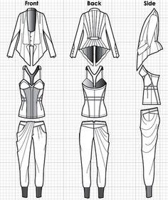technical designer fashion   2700CC technical drawing for fashion design2 How to: Technical Drawing ...