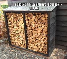 Seizoens Tip: Een sfeervol houthok in de tuin.
