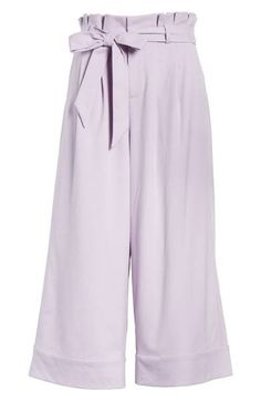 cb3014a22bde4 Main Image - Alice + Olivia Ryan Paperbag Crop Pants Cropped Pants