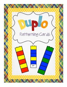 These Duplo patterning cards are perfect for helping young children develop the important patterning skill. They can also be used to assess whether. Preschool Classroom, Kindergarten Math, Teaching Math, Lego Duplo, Early Learning, Kids Learning, Early Math, Legos, Math Patterns