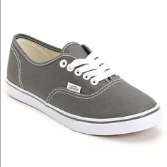 Grey Unisex Vans NWOT. Perfect Condition. Offers accepted. Vans Shoes Sneakers