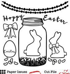 Hoppy Easter Mason Jar-Free Cut File