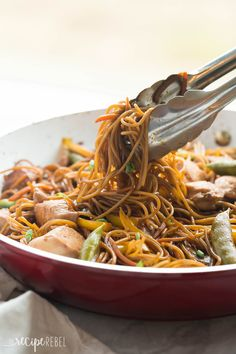 This easy, One Pot Teriyaki Chicken and Noodles is better than any takeout! It's healthier and loaded with veggies, with fewer dishes to wash! PLUS a step by step video! http://www.thereciperebel.com/one-pot-teriyaki-chicken-and-noodles/