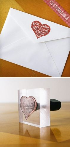 Custom Rubber Address Stamp <3