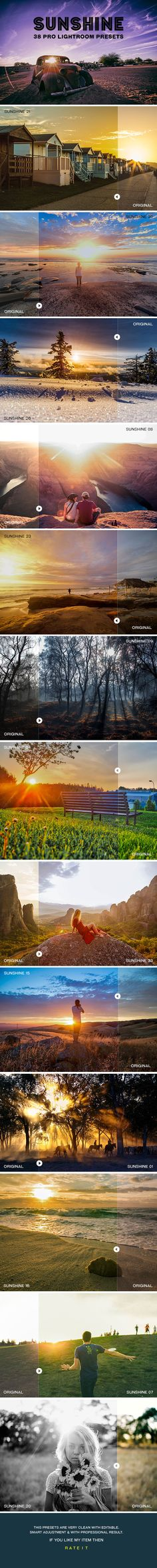 Sunshine Lightroom Presets - #Lightroom #Presets #Add-ons Download here: https://graphicriver.net/item/sunshine-lightroom-presets/20320553?ref=alena994
