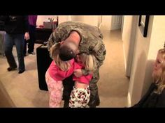 U.S. Soldier Home from Afghanistan Surprises His Girls with a Late Christmas Present