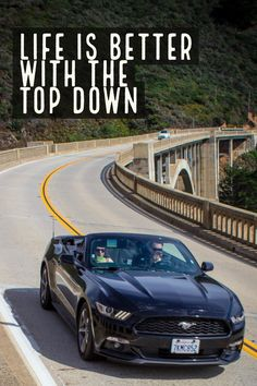 Convertible Mustang + Bixby Bridge + Big Sur = Perfection  #ford #mustang #fordmustang #bixbybridge #bigsur #bridge #convertible #car #sportscar