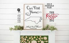 First Home Gifts, New Home Gifts, Paper Crafts Wedding, Document Printing, Tattoo Paper, Vinyl Decor, Vinyl Cutting, Wedding Thank You Cards, Home Signs