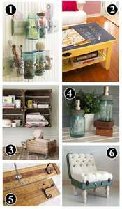 Inspired by vintage and repurposed items Kei onto the CREATIVE diy home project ideas