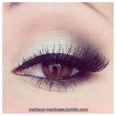 prom makeup for blue eyes with silvers - Google Search