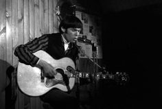 Neil Young playing the Riverboat Coffee House, Yorkville, Toronto in 1965