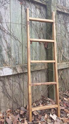 Primitive 14x48 Rustic Wood Ladder Quilt Blanket Scarf Tie Towel Rack Primitive Home Cabin Lodge Decor Custom Sizes Colors Unique Primtiques