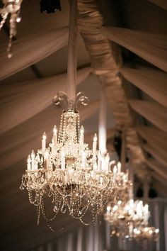 These gorgeous chandeliers are perfect for your elegant affair! Luma Designs knows how to turn any space into your dream vision! Click the image to learn more. Photo credit: Jennie Andrews Photography