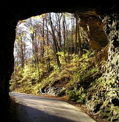 Byway, KY, USA. Take a journey through magnificent natural wonders on the Red River Gorge National Scenic Byway. From the historic Nada Tunnel to the end of the byway in Zachariah, discover more than 100 stone arches, waterfalls and plenty of natural beauty. Carved over millions of years by wind and water, the Red River Gorge is a favorite place for forest visitors who seek outdoor adventure and enjoy canoeing, rock climbing and kayaking.