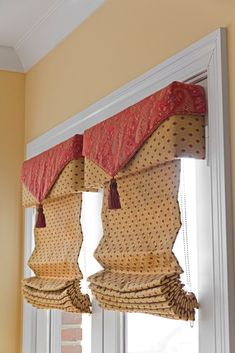 :( Custom shades and cornices should be proportional to window. These look too SMALL!! Also the shades would hang closer to the glass and offer better privacy if they were on an upturned headrail.