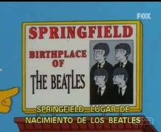 Beatles -The Simpsons Goat Cartoon, Classic Rock And Roll, The Fab Four, Great Tv Shows, Futurama, The Simpsons, Simpsons Funny, Cool Cartoons, Funny Signs