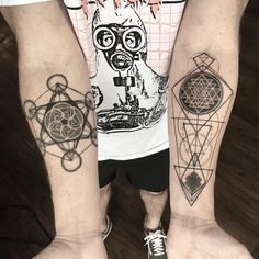 No photo description available. Sacred Geometry Patterns, Sacred Geometry Tattoo, Knot Tattoo, Arm Tattoo, Sri Yantra Tattoo, Flower Of Life Tattoo, Shri Yantra, Life Tattoos, Cool Tattoos