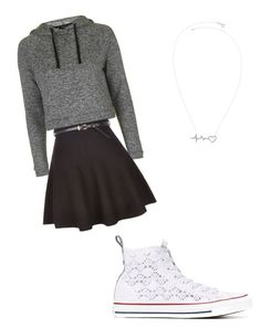 A fashion look from April 2016 featuring gray shirt, skater skirt and lace sneakers. Browse and shop related looks. Lace Sneakers, Grey Shirt, Skater Skirt, Topshop, Converse, Fashion Looks, Skirts, Polyvore, Shopping
