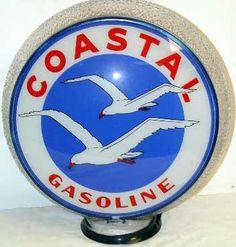 Coastal gas pump globe on ripple body