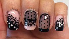 Nailart. Lace nails.  #nails #nailart