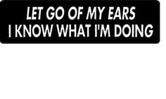 Helmet sticker - let go if my ears I know what I am doing