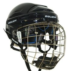 Bauer Nike Hockey 7500 Hockey Helmet w/Cage - Navy - Large by Bauer. $99.99. * Triple-density protection * EPP 1/2 liner system * PORON inserts * Ergo translucent ear covers * Tool-free adjustment * Slow memory comfort foam * Floating pro ear loops * Microban antibacterial protection * Dual-density chin cup with Thermo Max fabric lining